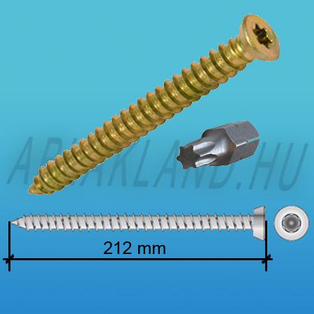 Tokrögzítő csavar 7,5mm x 212mm